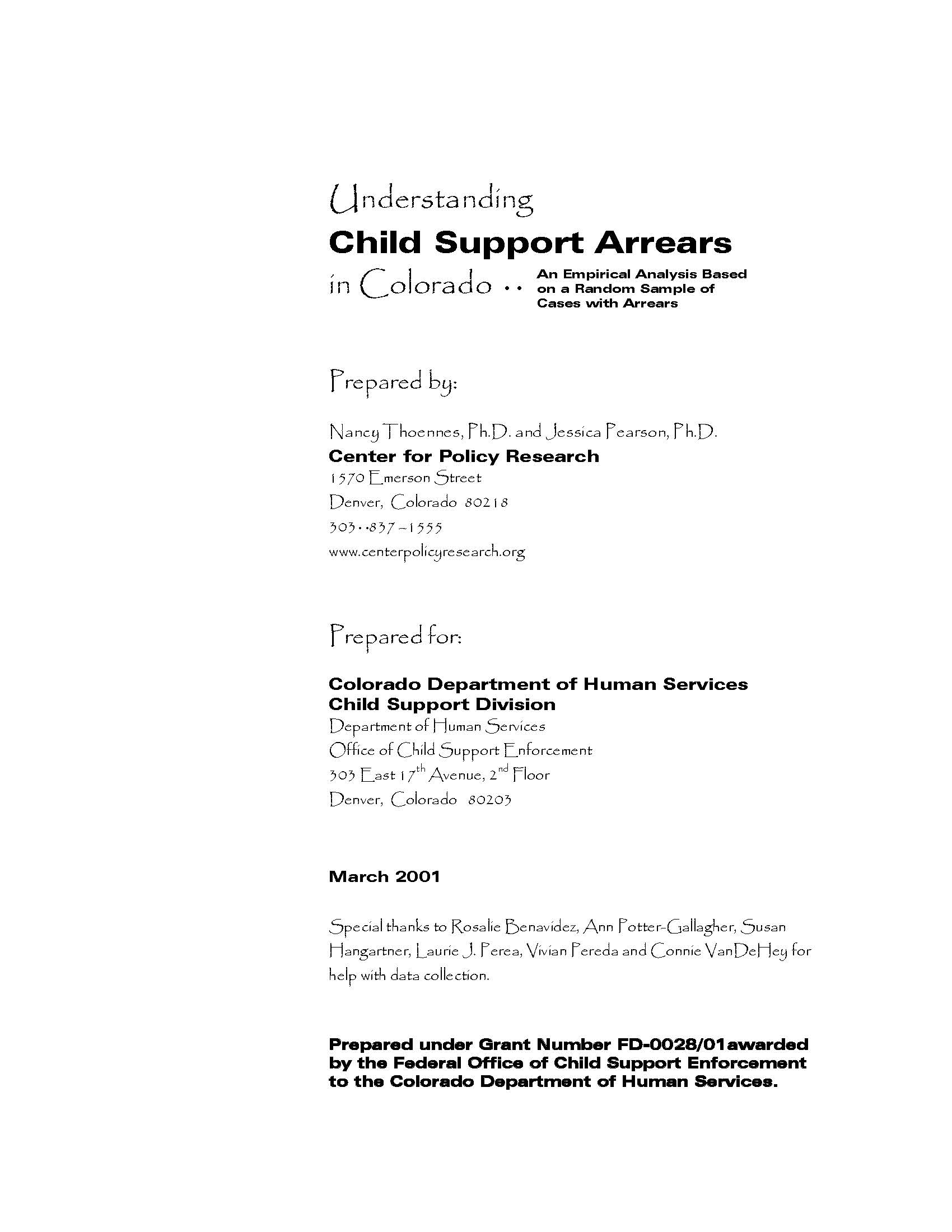 Child Support Arrears Forgiveness Letter from centerforpolicyresearch.org